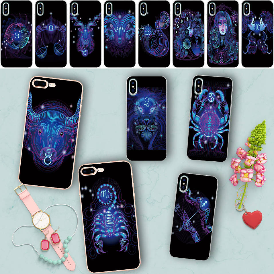 Minason Dreamlike Signs Of The Zodiac Case for iPhone X 5 S 5S SE 6 6S 7 8 Plus Cover Soft Silicone Phone Fundas Capa de Celular