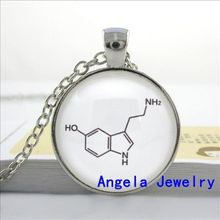 NS-00192 New Fashion Necklace Glass Dome Pendant Chemistry Necklace THC Chemistry Necklace