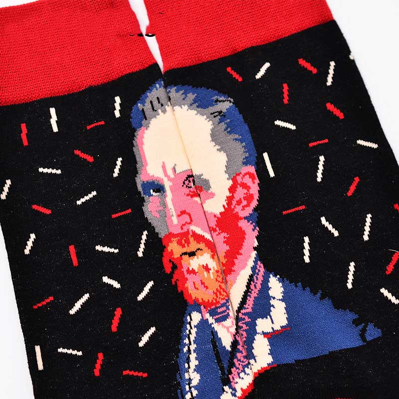 Panting Men Portrait Cotton Harajuku Socks Funny Famous Panting Ankle Art Socks For Men Colorful Hispter Creative Funny Sox in Men 39 s Socks from Underwear amp Sleepwears