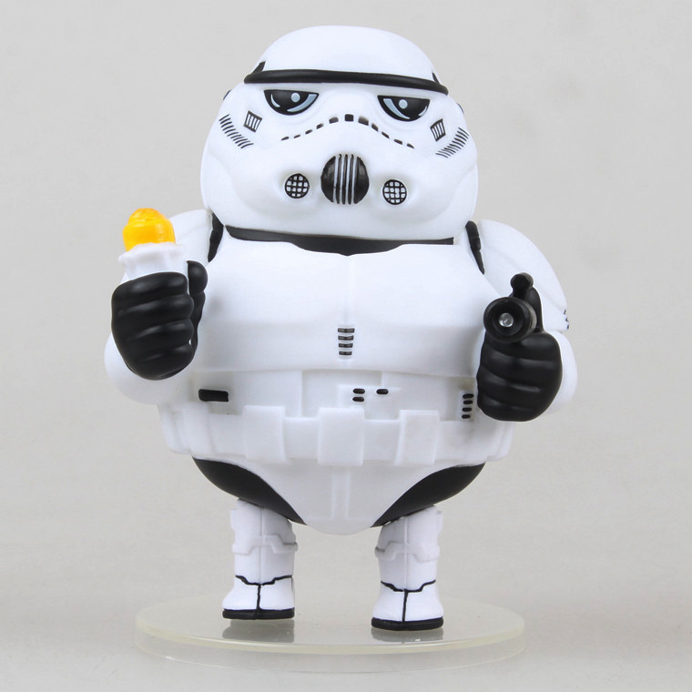 Free Shipping Cute 5 Star Wars 7 White Stormtrooper FAT Boxed 12cm Action PVC Collection Figure Model Toy Doll Gift