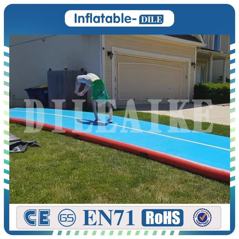 Livraison gratuite 12x2x0.2m air gonflable gym dégringolade maille tissu aqua fitness gonflable tapis de yoga flottant