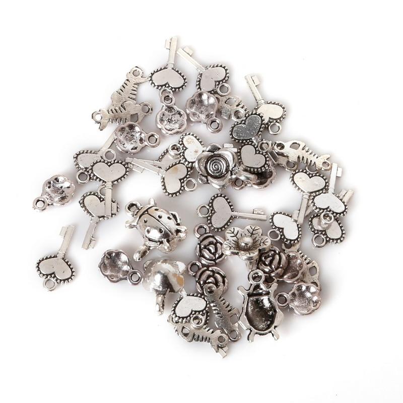 100pcs  Silver Spacer Loose Metal Bead 8x5x5mm
