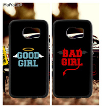 BFF good bad girls best friends soft TPU edge phone cases for samsung s6 plus s7 s8 s9 S10 lite e note8 note9