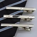 Multi Estilos Cavalheiro Metal de Prata Simples laço da Gravata Clipe Bar Pin 9AQZ