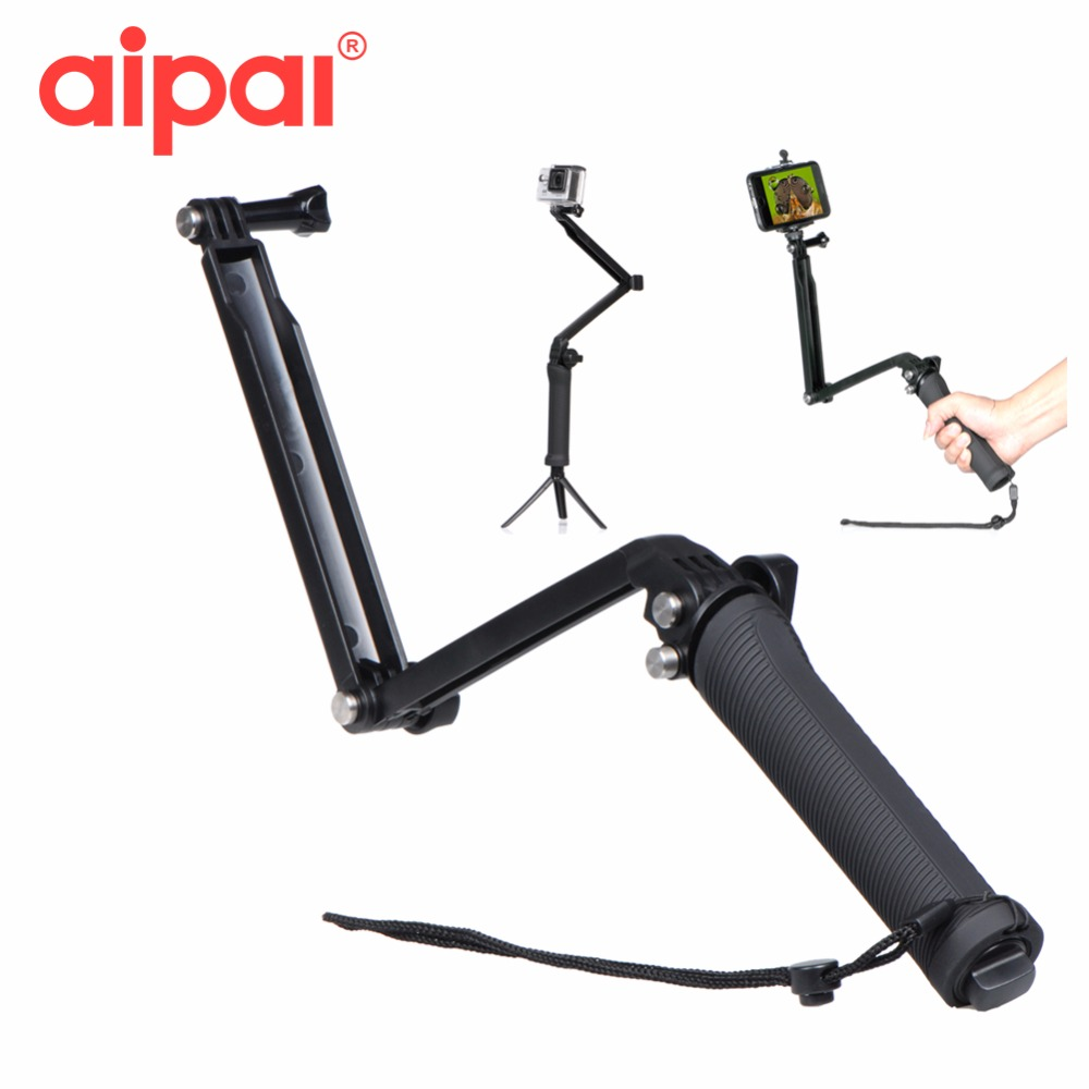 Aipal For Gopro Accessories Collapsible 3 Way Monopod