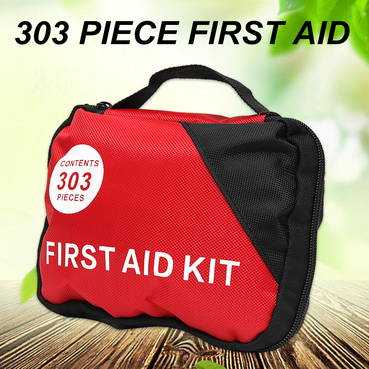 1Set 303 Pieces First Aid Mega Kit Emergency Set Kit-A Must Have For Every Family Lightweight First Aid Carry Bag Kits