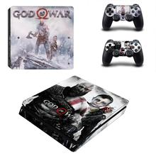 God Of War 4 PS4 Slim Skin Sticker Decal Voor Dualshock PlayStation 4 Console en 2 Controllers PS4 Slanke Skins stickers Vinyl