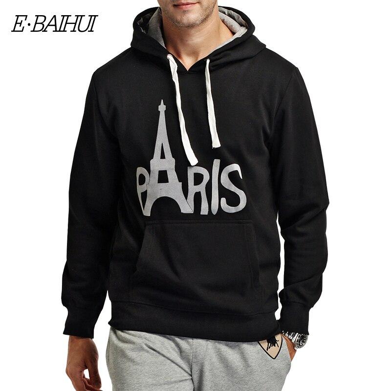 E-BAIHUI brand mens hoodies and sweatshirts Moleton Masculino Cotton Suit Men Sweatshirts men winter coat swag WY002