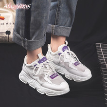 ALL YIXIE2019 Spring and Summer New Fashion Women's Shoes Mesh Breathable Sports Women's Shoes Casual Wild Thick-soled Old Shoes 881219329808 xtep old shoes men 2019 summer mesh breathable casual shoes students thick bottom old shoes