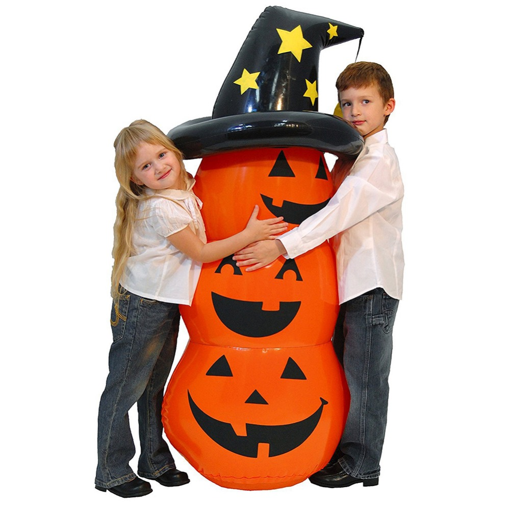 Halloween Pumpkin Orange Inflatable Pumpkin 55inches Props Halloween Home Decoration Pumpkin Festival