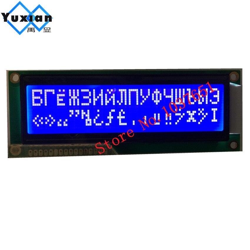 Russe cyrillique police 1602 16x2 1602g grand caractère grand écran lcd STN bleu LC1602BMDWH6-D02 haute qualité WH1602L-TMI-CT
