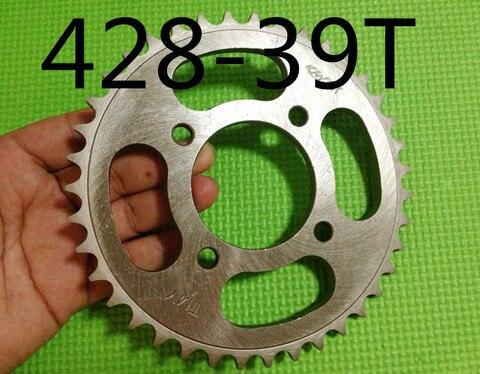 motocicleta da roda dentada motor roda dentada 428 39 t dentes para 428 com placa