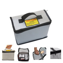 LiPo Battery Safety Bag Fireproof RC Safe Guard Charge Sack Explosion-Proof Safety Bag Protable Handle Boxes for RC Battery rc lipo battery safety protect bag pouch safe guard charge sack 185 x 75 x 60 mm 235 x 180 x 65 mm