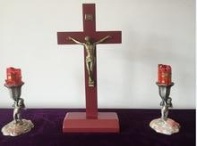 Natural Elm Cross Redwood Jesus St. jesus christ statues