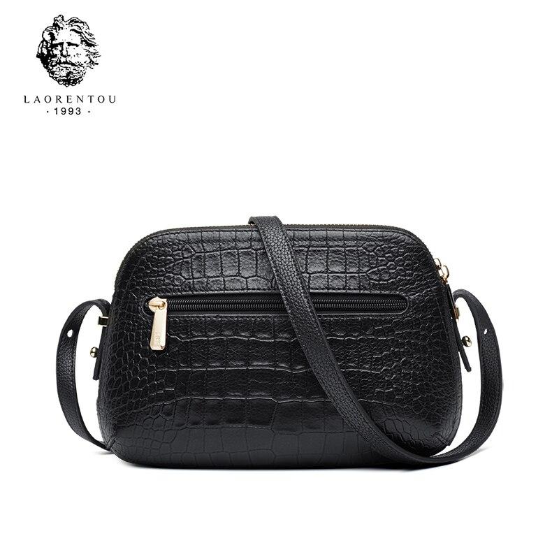 Laorentou Women Crossbody Bags Fashion Leather Bags Retro Alligator Shoulder Bag Purse Lady Tote Bag Valentine's Day Gift-in Bolsos de hombro from Maletas y bolsas    3