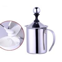 400ML Stainless Steel Double Mesh Milk Frother Milk Foamer Milk Creamer Kitchen Tool Free Shipping