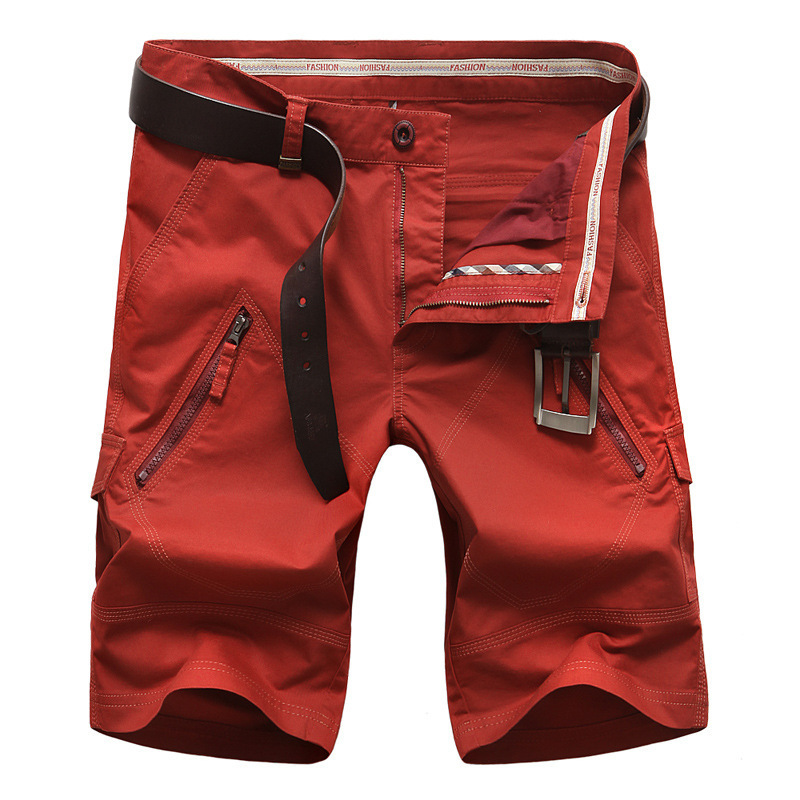 Men Cargo Shorts Straight Loose Fashion High Quality Cotton Summer Mens Casual Short Trousers Bottoms Plus Size