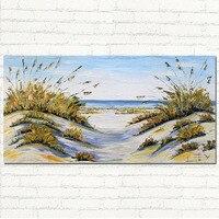 Océano de gran Tamaño Playa Abstracta Decoración Arte Costero Espátula la Pintura Al Óleo Del Arte de la Lona Para El Dormitorio Decoración de La Pared