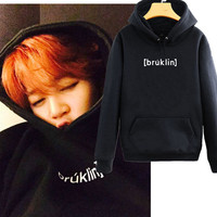 Kpop BTS Bangtan Boys Bulletproof Junior JUNGKOOK Hooded Sweatshirts With Korean Men And Women Fleece Should