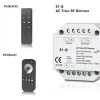 New S1 B AC100 240V AC Triac RF Dimmer Output RF2 4G Remote Controller R1 RT6