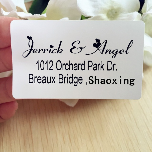 1 5 2 5 inches personalized stickers classic wedding return address