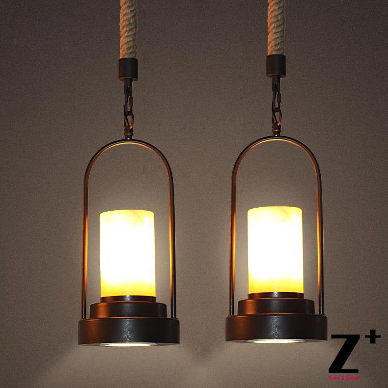 American Style Vintage Pendant Light Industrial Lamp loft 20TH C. FACTORY hemp rope chain free shipping