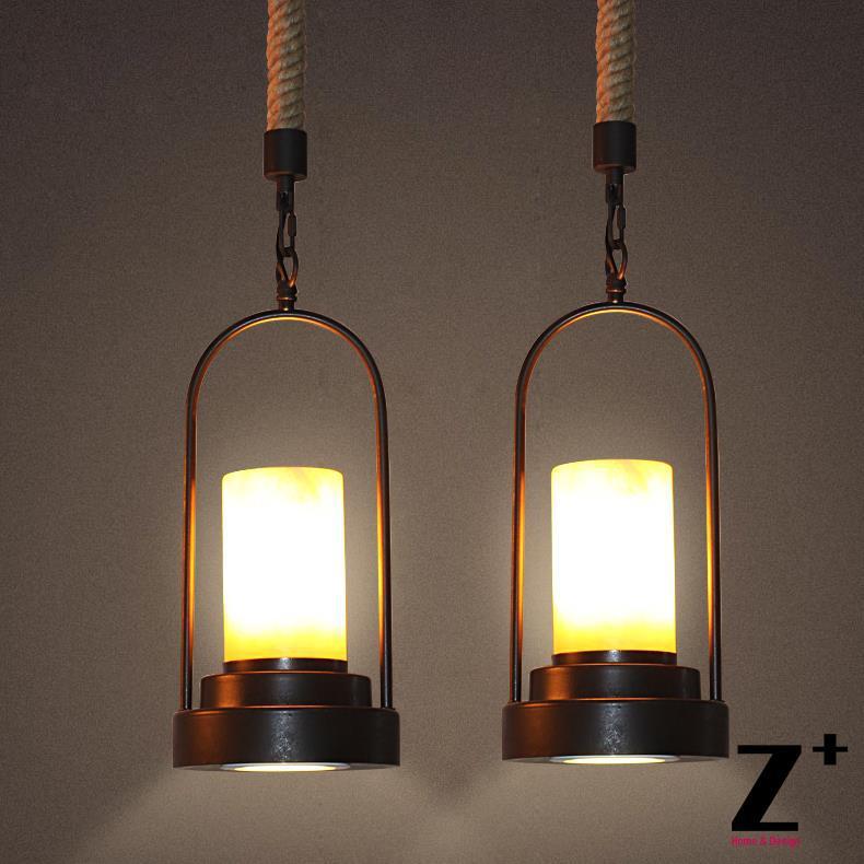 Amerikaanse stijl vintage hanglamp industriële lamp loft 20e eeuw. - Binnenverlichting