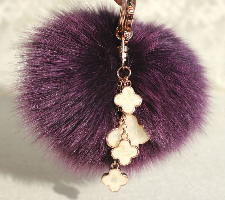 10cm Luxury Large Fluffy Pompom Genuine Real Fox Fur Pom Pom Keychain Pendant Fur Key Chain Women Bag Charm Accessories Pendant цены онлайн