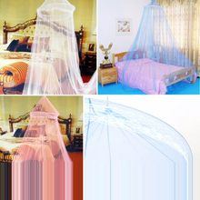 Baby Bedding Crib Mosquito Net Summer Baby Bed Mosquito Mesh Hung Dome Curtain Net for Toddler Crib Cot coloful Optional(China)
