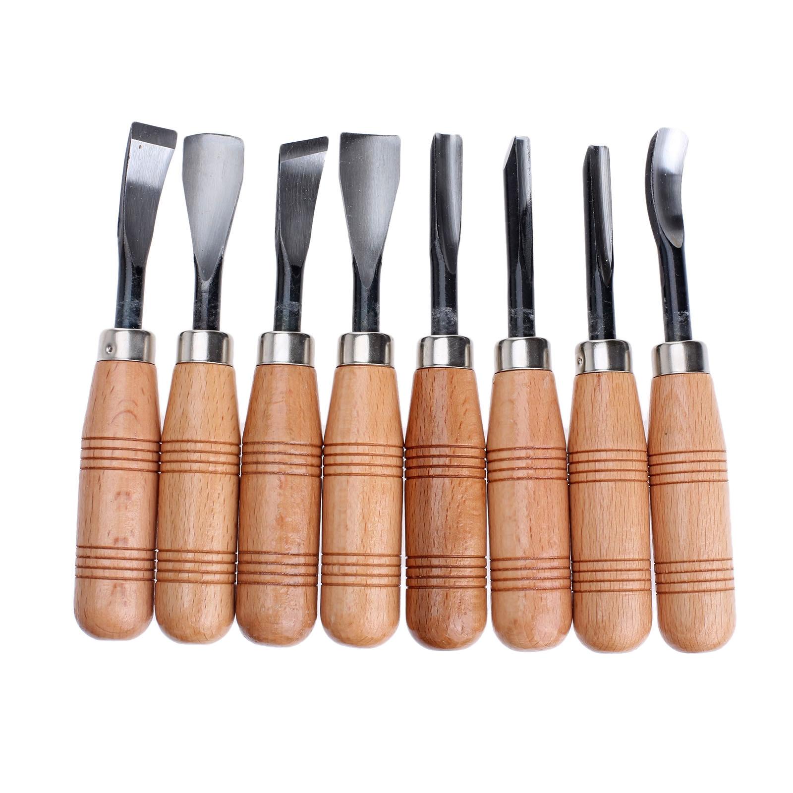 8Pcs Wood Carving Hand Chisel Set Graving Knife Wood Carving Chisels Knife Woodworking Carpenter Tools Set for Carving Wood  цены