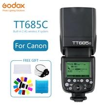 Godox TT685 TT685C Speedlite Flash Wireless TTL 2.4G Wireless HSS 1/8000s for Canon 1100D 1000D 7D 6D 60D  Camera photography цена 2017