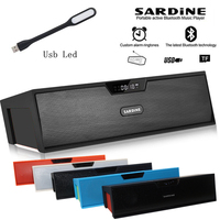 Sardine wireless HIFI portable wireless bluetooth Speaker Stereo Soundbar TF FM radio Dual bluetooth Speakers portable