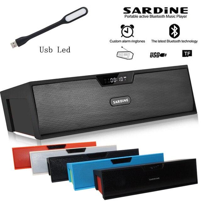 Sardine Wireless Hifi Portable Bluetooth Speaker Stereo Soundbar Tf Fm Radio Dual Speakers