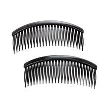 Black Plastic 24 Teeth Hair Comb Clip Clamp 2 Pcs for Lady Girls цена