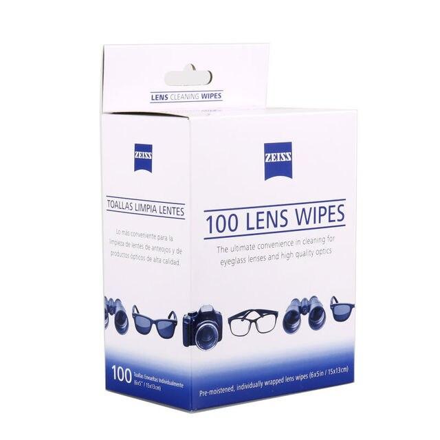ZEISS persol lunettes de soleil chiffon de nettoyage optique lentille nettoyant lunettes porte-clés 2 paquets de 100 lingettes