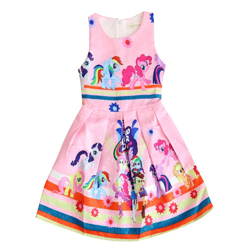 2018 Gown file 3-10 Years My little Women Sleeveless Trolls Summer time Pony Costume Cotton Informal Moana Vaiana Clothes Youngsters Clothes Clothes, Low-cost Clothes, 2018 Gown file 3 10...