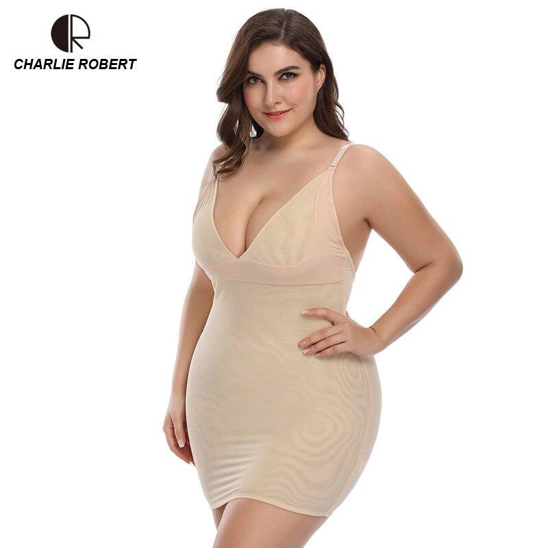 6XL Shapewear Plus Size Control Slips Shapers Corset Slimming Briefs Butt Lifter Body Shaper Underwear Women Bodysuit