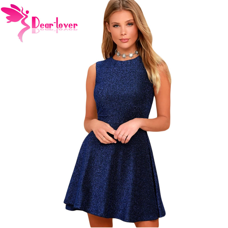 Dear Lover A Line Mini Dress Women Sleeveless O neck Vintage Club Dress 2019  New Ladis 1cb188fdf
