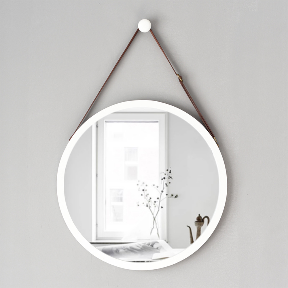 Round hanging mirror European style living room  bedroom hotel bathroom wall hanging makeup dressing mirror wx8281135|Bath Mirrors|   - AliExpress