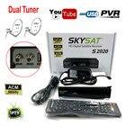 Skysat S2020 Dual Twin Dish Tuner H.265 AVC Digital Satellite Receiver ACM Support IKS SKS ACM/VCM/CCM IPTV VOD with LAN Wifi