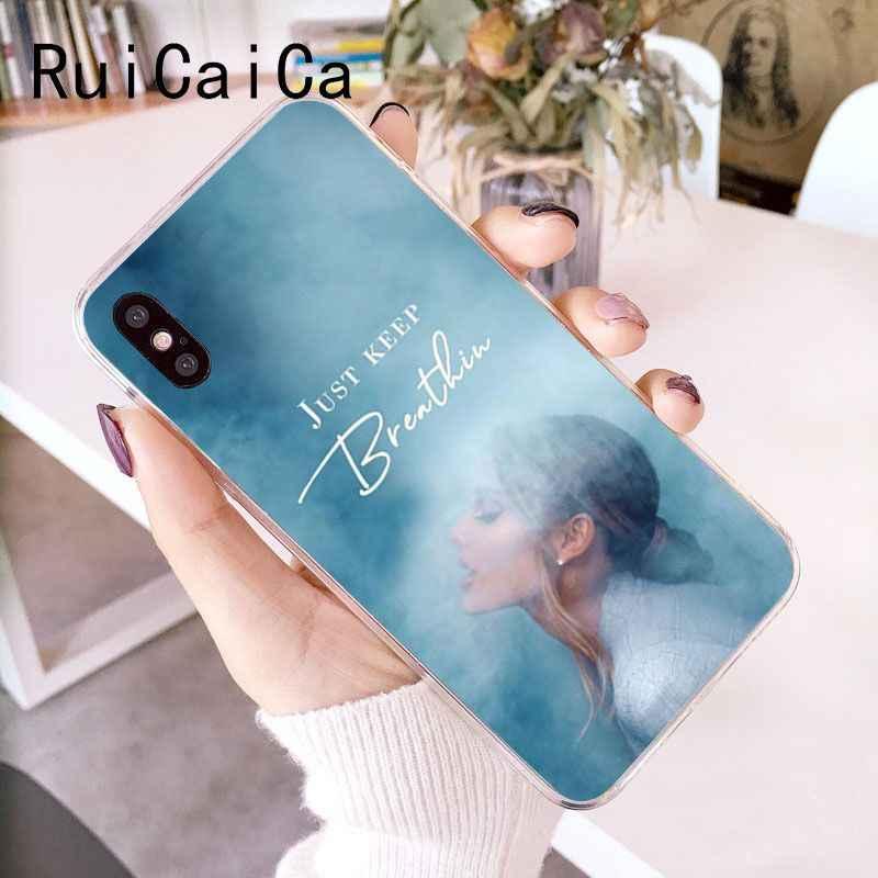 RuiCaiCa Ariana Grande พระเจ้าผู้หญิง DIY กรณีหรูหราสำหรับ iPhone 5 5Sx 6 7 7 plus 8 8 plus X XS MAX XR Fundas Capa
