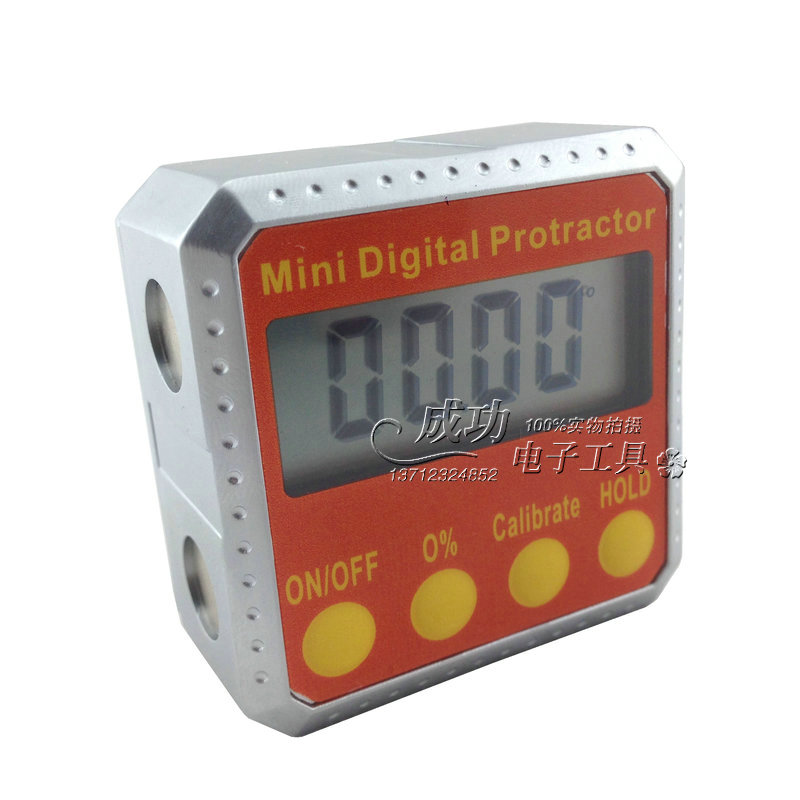 ФОТО Digital Protractor Inclinometer Angle meter Digital Bevel Box 4 x 90 degree Range Metal case