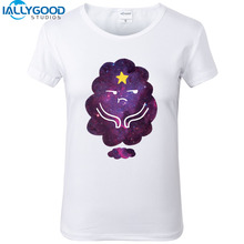 New Summer Funny Oh my Glob Space T-Shirts Women Cute Print White T-shirts Slim Casual Women Tops S1106