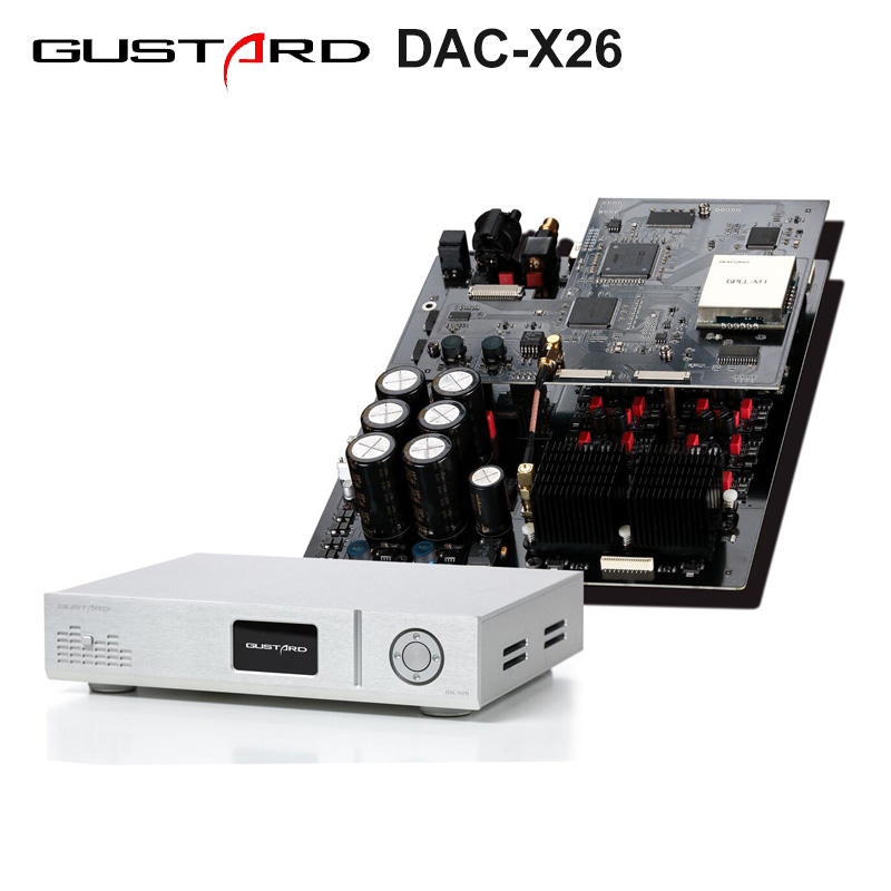 US $1299.0 |GUSTARD DAC X26 DAC Dual ES9038PRO DSP PLL Native Balanced Decoder in Digital to Analog Converter from Consumer Electronics on