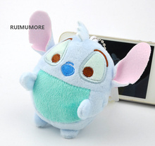 Super CUTE 9CM Gift LILO Stitch Plush Stuffed TOY , key chain Pendant Plush TOY , little screen cleaner cloth plush toys