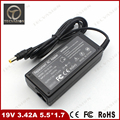 Welcome Bulk Order 19V 3.42A 5.5*1.7mm Notebook Laptop AC Adapter for Acer Aspire TravelMate Series Power Supply Charger