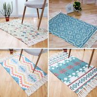Nordic style multi function geometric ground mat for kitchen 60*90 cm, door mat ,decoration bedside rug,cotton bathroom mat