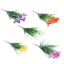Tulip Home Decor Plastic Flower Artificial Grass Plant Leaf Family Desk Decoration Party 5 Colors