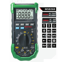 Cheaper Mastech MS8268 Auto Range Digital Multimeter Full protection ac/dc ammeter voltmeter ohm Frequency electrical tester diode test