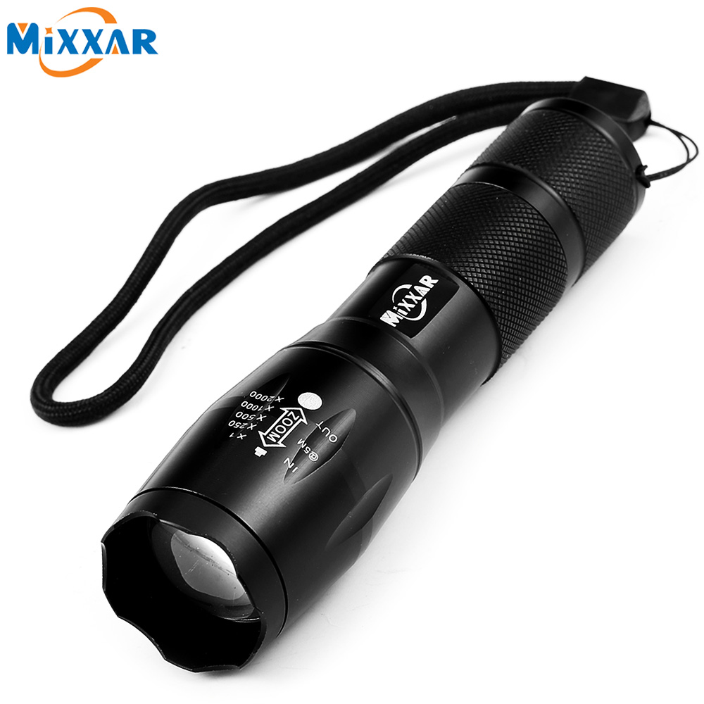 ZK59 Portable LED Flashlight LED Torch Zoomable Flashlight 4000LM E17 CREE XM-L T6 LED 5 Mode Light For 18650 or 3xAAA Battery 6000lumens bike bicycle light cree xml t6 led flashlight torch mount holder warning rear flash light